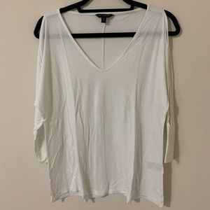 Banana Republic White Blouse w/ Sleeve detail